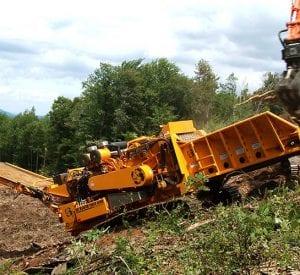 cbi 6800 grinder grinding on a hill