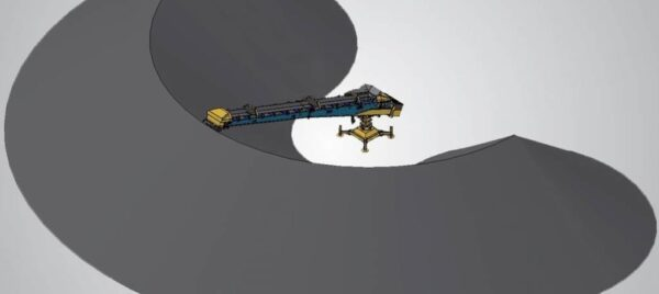 Keestrack S1e radial stacking conveyor