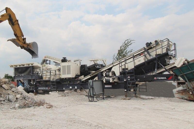Cedarapids CRH1111 HSI impact crushing plant