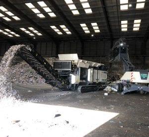 Ecotec TDS V20 Medium Speed Shredder shredding waste