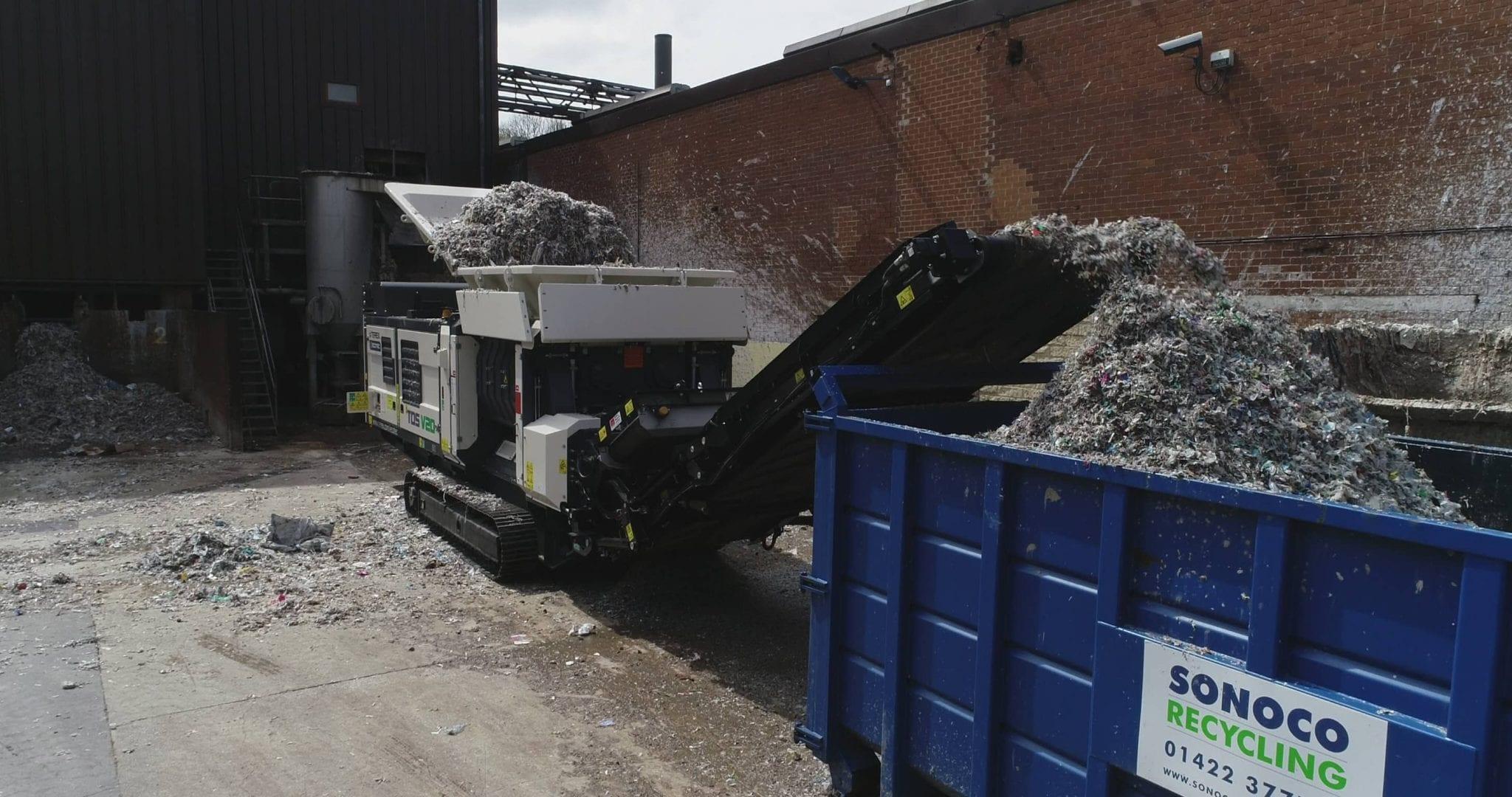 Ecotec TDS V20 Medium Speed Shreeder landfill shredding