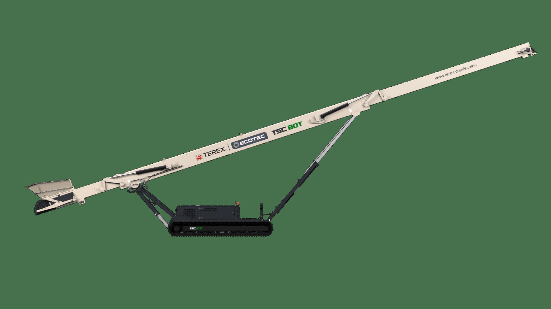 Terex Ecotec TSC 80T tracked stacker