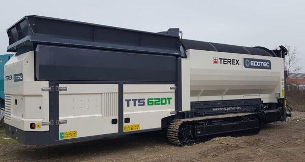 Terex Ecotec 620T tracked trommel screening plant